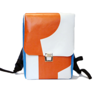 Rucksack orange blau