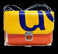 kleine Tasche, gelb orange