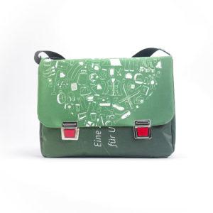 Umhängetasche, Messengerbag aus Upcyclingplane
