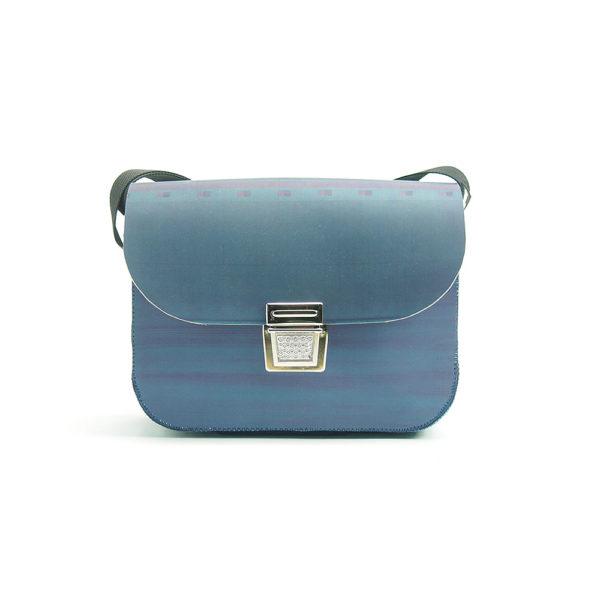 Handtasche aus Gummituch vom Offsetdruck