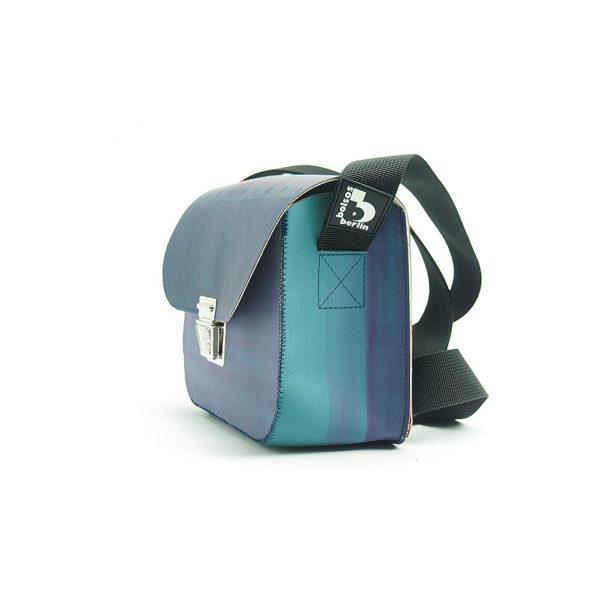 Handtasche aus Gummituch vom Offsetdruck, Upcycling